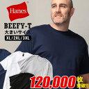 ヘインズ ビーフィー Tシャツ XL 2XL 3XL 大きいサイズ メンズ 半袖 無地 丸首 ティーシャツ 夏 ホワイト/ブラック/グレー/ネイビー Hanes BEEFY