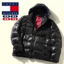 ショッピングTOMMY 中綿 ジャケット 大きいサイズ メンズ 防風 フーディー 切り替え フルジップ 防寒 ブラック 1XL-2XL TOMMY HILFIGER トミーヒルフィガー