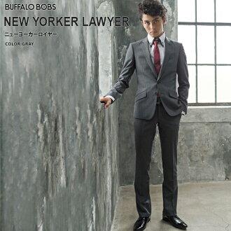 BUFFALO_BOBS _ 主的西裝 _NEW_YORKER_LAWYER2 按鈕 _ 2 褲子 _ 套裝 (灰色 (05))