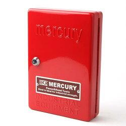 【送料無料】MERCURYマーキュリーキーキャビネットスチール製レッドインテリアガレージキーボックスC110