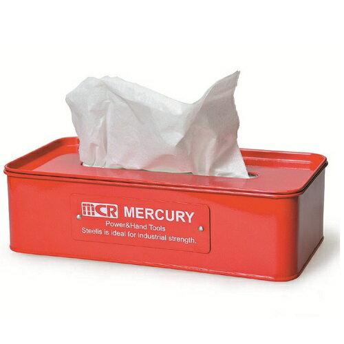 【送料無料】MERCURY マーキュリー TissueCase ティッシュケース レッド【インテリア雑貨の専門店 オシャレ 日用品 生活雑貨 ティッシュケース ボックス用 おしゃれ 雑貨 リッチボーイ】