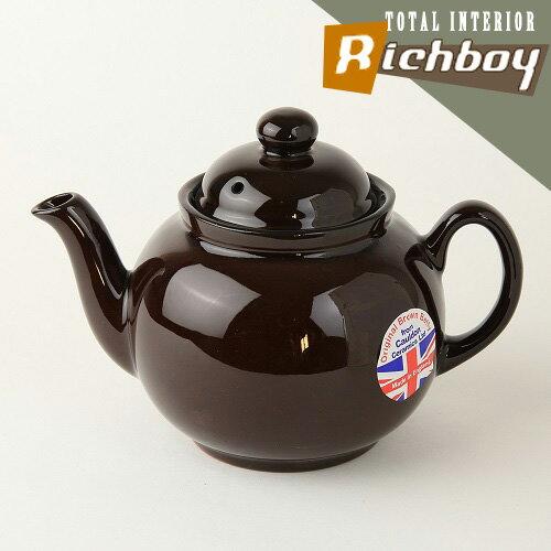 送料無料BROWNBETTYブラウンベティーティーポット4カップロゴなしUKモデル英国製Cauldo