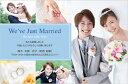 結婚報告はがき(結婚報告ハガキ) おしゃれな写真入りデザインポストカード! WK038【30枚印刷】年賀状・暑中見舞いにも
