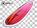▼激得▼ロングボード9'0 白赤●サーフボード【SCELL】