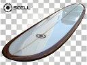 ▼激得▼ロングボード9'0 茶●サーフボード【SCELL】
