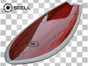▼激得▼レトロフィッシュ5'10 白赤●サーフボード【SCELL】