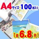 ラミネートフィルム A4 100枚入 厚さ100μm PLZ-A4100 ラミネーター パウチフィルム 家庭用 業務用 オフィス 写真 レシピ POP ポップ ...