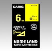 [カシオ]ネームランドテープ黄ラベル 黒文字【XR-6YW】