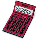 [カシオ]本格実務電卓 JS-201SK-RD【R品】【ワインレッド】ゴールド5年保証プロ仕様の本格電卓【アウトレット品】