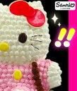 ハローキティ立体ケーキ【ハートキャンドル・手書きメッセージプ...