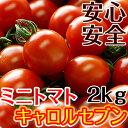 ミニトマト キャロルセブン 2kg【送料無料】減農薬・減化学肥料で栽培する、驚きの糖度と絶妙のコク、濃厚な風味が余韻を引く美味しいトマト