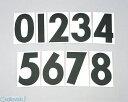 キタコ(KITACO) [000-0004005] ゼッケンシール5 フロント/クロ 0000004005【ポイント10倍】