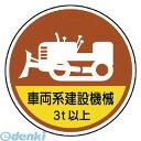 【あす楽対応】「直送」ユニット 37098A 作業管理ステッカー車両系建設機械3t PPステッカ 35Ф 2枚1入