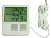 ドリテック/室内室外温度計 ホワイト/O-215WT