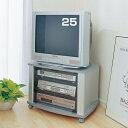 【送料無料】TVラック DTV-25 シルバー【ブラウン管テレビ 25インチ対応】AV機器収納 TV DVD ビデオ ゲーム収納 収納家具 収納用品【アイリスオーヤマ】05P18Jun16