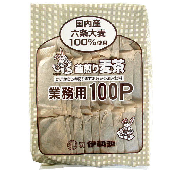 【195695】伊勢惣 麦茶 業務用100P/1...の商品画像
