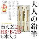 替芯 鉛筆 えんぴつ 大人の鉛筆 替え芯 5本入り HB/B/2B/2mm / 【SUMMER_D1808】 【メール便可】 M便 1/10