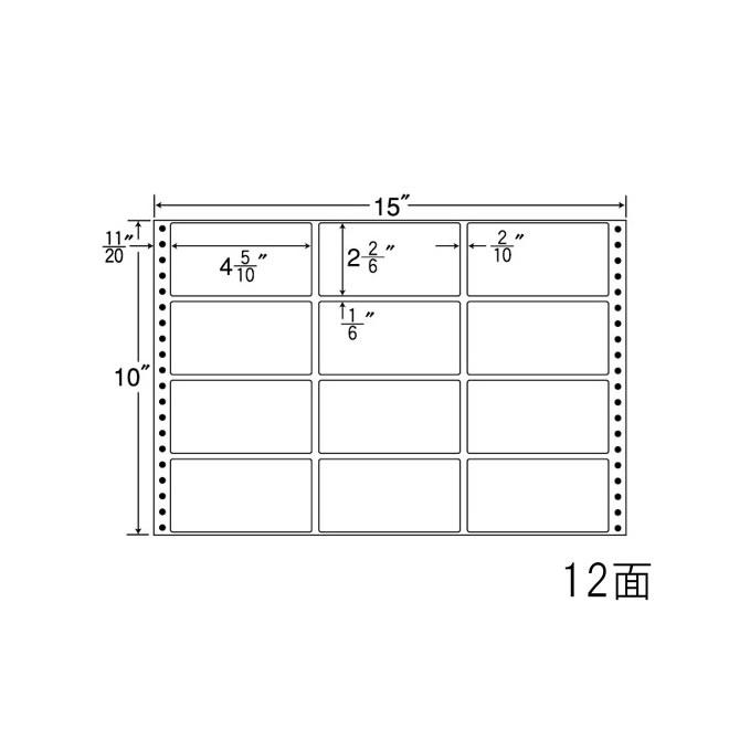 ナナフォーム ナナフォーム 連続ラベル Mタイプ 15×10インチ 12面 (500折) MT15E 【送料無料】