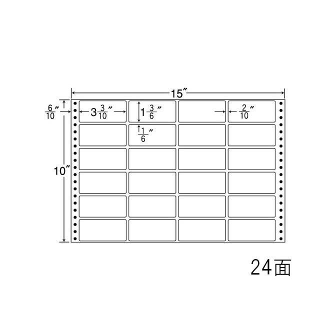 ナナフォーム ナナフォーム 連続ラベル Mタイプ 15×10インチ 24面 (500折) M15F 【送料無料】