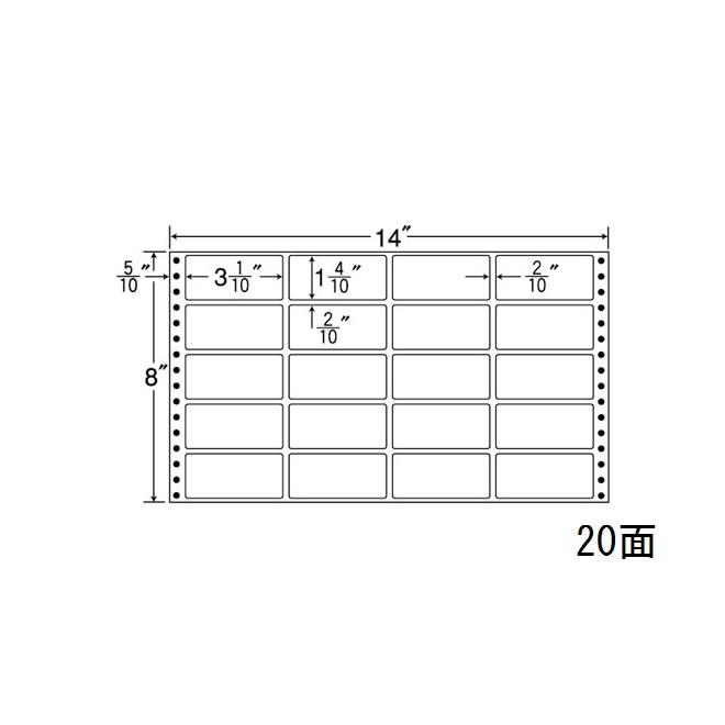 ナナフォーム ナナフォーム 連続ラベル Mタイプ 14×8インチ 20面 (500折) MT14V 【送料無料】