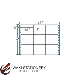 ナナフォーム ナナフォーム 連続ラベル Mタイプ 12(1・10)×9インチ 9面 (500折) M12O 【送料無料】