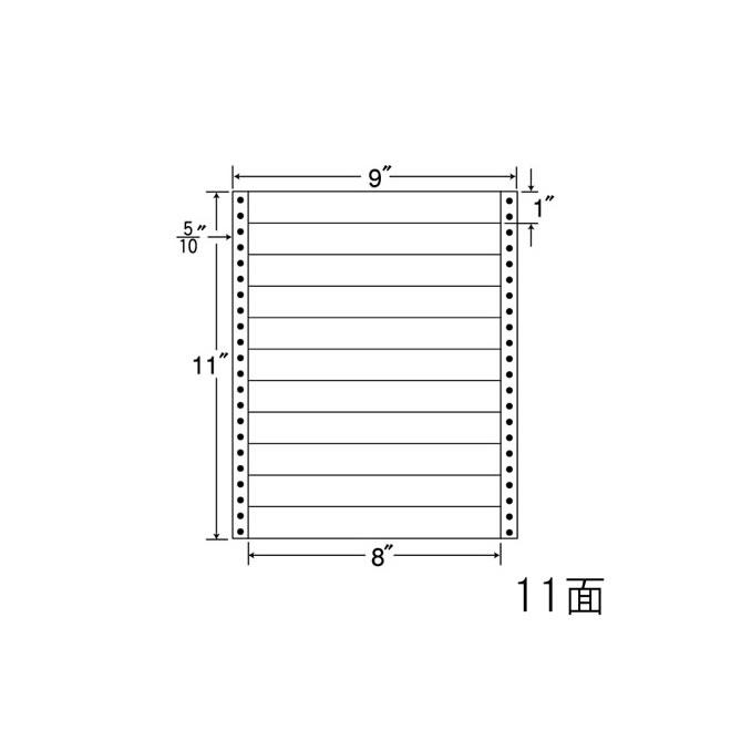 ナナフォーム ナナフォーム 連続ラベル Mタイプ 9×11インチ 11面 (500折) MX9A 【送料無料】