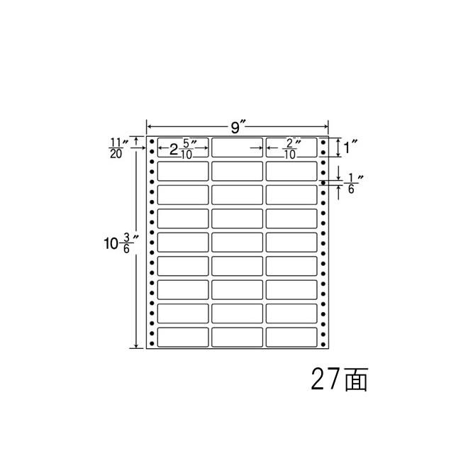 ナナフォーム ナナフォーム 連続ラベル Mタイプ 9×10(3・6)インチ 27面 (500折) MX9i 【送料無料】