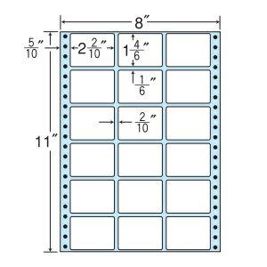 ナナフォーム ナナフォーム 連続ラベル Mタイプ 8×11インチ 18面 (500折) MX8B 【送料無料】