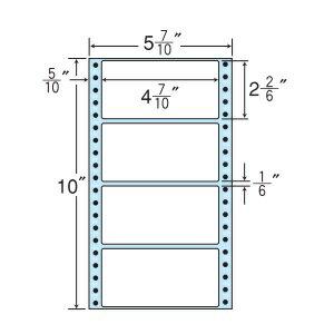 ナナフォーム ナナフォーム 連続ラベル Mタイプ 5(7・10)×10インチ 4面 (1000折) MX5C 【送料無料】