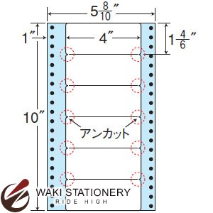 ナナフォーム ナナフォーム 連続ラベル Mタイプ 5(8・10)×10インチ 6面 (1000折) MM5L 【送料無料】