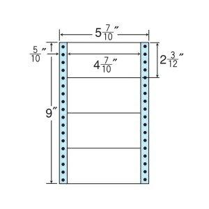 ナナフォーム ナナフォーム 連続ラベル Mタイプ 5(7・10)×9インチ 4面 (1000折) MM5M 【送料無料】