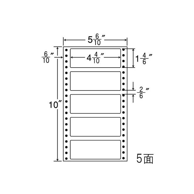 ナナフォーム ナナフォーム 連続ラベル Mタイプ 5(6・10)×10インチ 5面 (1000折) MM5R 【送料無料】