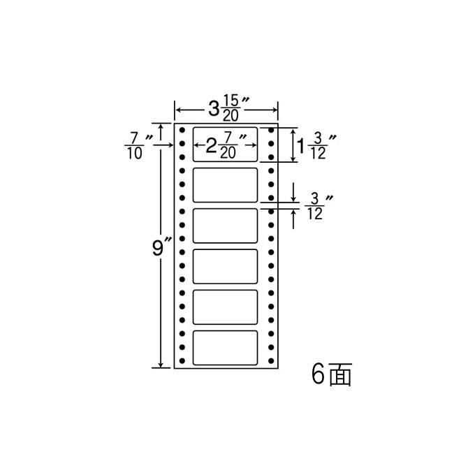 ナナフォーム ナナフォーム 連続ラベル Mタイプ 3(15・20)×9インチ 6面 (1500折) MM3A 【送料無料】