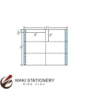 ナナフォーム ナナフォーム 連続ラベル Mタイプ 11×9インチ 6面 (500折) M11R 【送料無料】