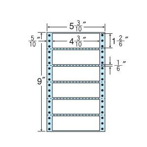 ナナフォーム ナナフォーム 連続ラベル Mタイプ 5(3・10)×9インチ 6面 (1000折) MM5U 【送料無料】