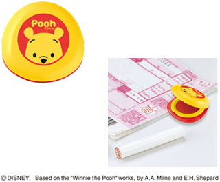 New! as cinnabar シャチハタ-Disney-Petit cinnabar ink Winnie the Pooh's ink quality is a compact, convenient mobile.