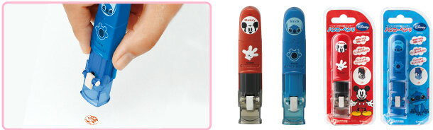 シャチハタ Disney ハンコベンリ just put your stamp. Seal quickly! With safety lock.