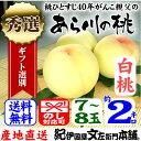 紀州和歌山 あら川の桃 【白桃種】手選り【秀選】 2kg強/7〜8玉入生産者からの直送となります。