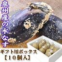 泉州産 水なす(ぬか漬)10個【ギフト用BOX】夏の味覚 水茄子を仕事人山崎さんの自