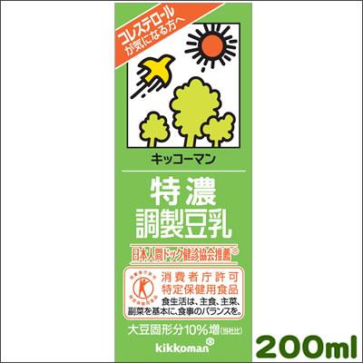 キッコーマン・特濃調整豆乳200ml×18本[常...の商品画像