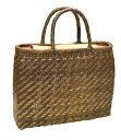 ショッピング桃 山葡萄 籠バッグ L (内布・かぶせ付) 胡桃 網代編み 浴衣 カゴバッグ かごバック カゴバック やまぶどう