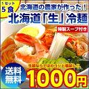 \タイムセール&ポイント10倍!/【送料無料】3種から選べる 北海道熟成「生」.冷麺5