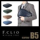 【在庫限り】エフクリオ F.CLIO クラッチバッグ セカンドバッグ メンズ 革 本革 レザ