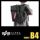 アルファインダストリーズ ビジネスバッグ ALPHA INDUSTRIES ブリーフケース P1000D 3WAY メンズ PC 撥水 ポリエステル A4 4952