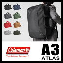 コールマン Coleman アトラス ATLAS 3Wayビジネスバッグ ブリーフケース ミッションA3 26L