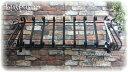 【日本製】フラワーバルコニーS1000mm【ロートアイアン:在庫】屋外用錆止め:溶融亜鉛メッキ加工:...