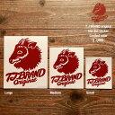 TJ BRAND ORIGINAL Die-cut Sticker TJ red Medium / ティージェイブランド オリジナル ダイカットステッカー 限定カラー