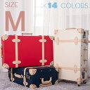 【10%OFFクーポン適用!】Mサイズ スーツケース 女性 キャリーケーストランク キャリーバッグ かわいい一年間保証 4日~7日用旅行用品中型 軽量 suitcase FUPP03