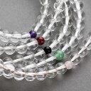 数珠・女性用 本水晶 7mm 正絹房(紅水晶)