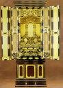 金仏壇:【三河型 うねり欄間段下】20号金箔仏壇仏具一式付_
